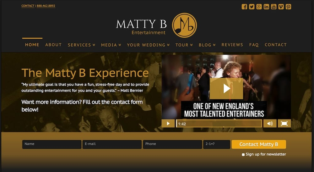 Matty B Website thumb