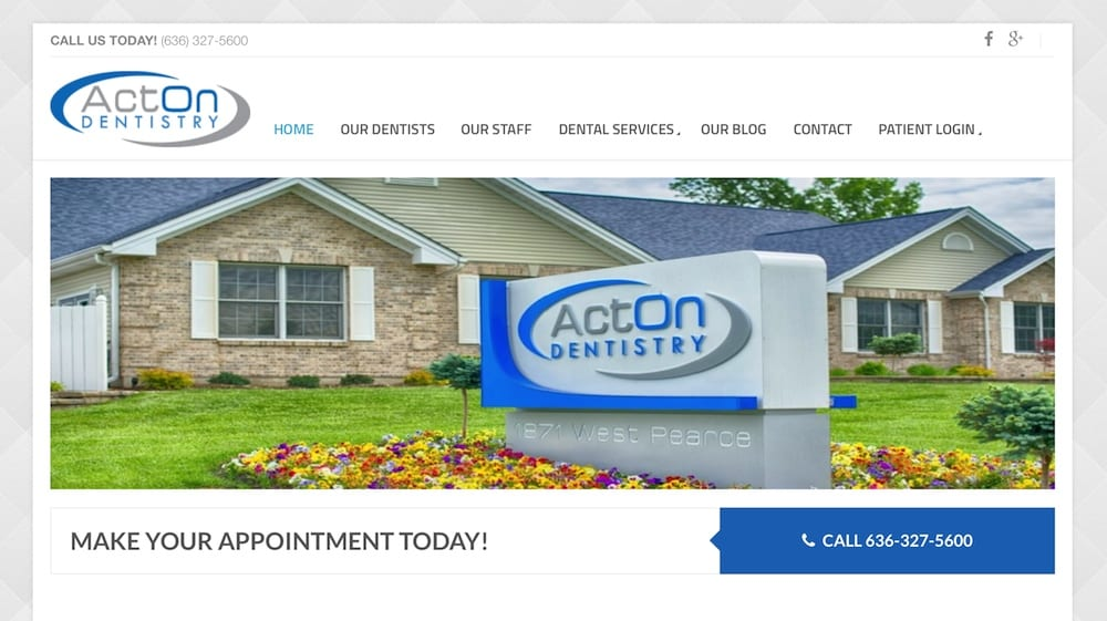 acton dentistry website thumb